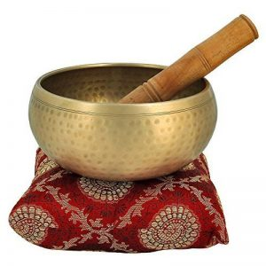 5 pouces métal de cloche du bouddhisme tibétain bol chantant Instrument de musique pour la méditation avec Stick et Coussin - Qualité Supérieure de la marque ShalinIndia image 0 produit