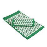 Amzdeal Kit Tapis d'acupression 67x41cm avec Oreiller Portatifs 37x15x10cm et Un Sac en Coton--Vert de la marque Amzdeal image 6 produit