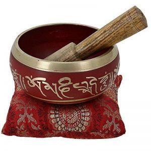Bol chantant tibétain de méditation Rouge Art bouddhiste Décor 10,2cm de la marque ShalinIndia image 0 produit