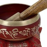 Bol chantant tibétain de méditation Rouge Art bouddhiste Décor 10,2cm de la marque ShalinIndia image 1 produit