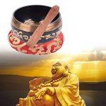 Bol chantant tibétain - Set pour la méditation, la prière yoga – Ensemble complet avec maillet et coussin - Fabriqué au Népal de la marque CHUDONG image 5 produit