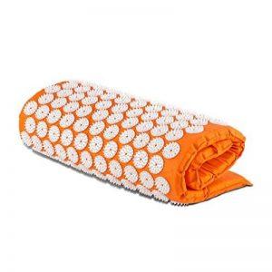 Capital Sports Relax - Tapis Yantra masseur / tapis de fleurs - tapis acupression pour soulager les problèmes de dos, détendre les muscles et apaiser les douleurs - 6930 points d'acupression sur 210 coussins à épingles - 70x40cm - orange de la marque image 0 produit
