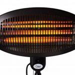 Chauffage rayonnant de terrasse KLIMATRONIC Night Sun - convient pour des volumes de max. 60 m³ ( 25 m²) - 3 niveaux de puissance - max. 2000 watts de la marque Suntec Wellness image 5 produit