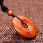 COAI® Collier avec Pendentif Donut Rond Pierre de Protection Cordon Réglable Design Unique Unisexe de la marque coai image 2 produit