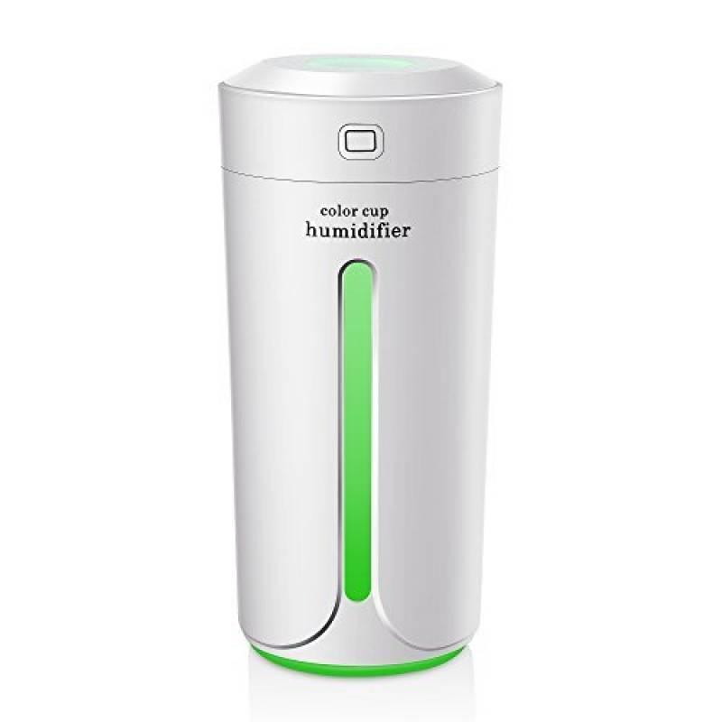 TOOGOO Cadeau Humidificateur dair sans Fil USB Diffuseur DHuiles Essentielles Humidificateur dair a Humidificateur a Ultrasons Portable Purificateur avec Batterie