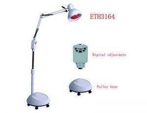 Elitzia ETH3164 stand Far infrarouge thermique lampe de chauffage corps de détente facile à utiliser Lay-Down ou Sit sol blanc couleur de réglage et de base de la poulie de type de la marque Elitzia image 0 produit