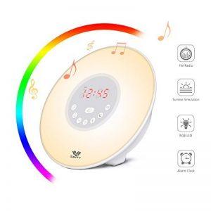 Eveil Lumière -SAVFY Lampe de Réveil avec LED 6 réglages Simulateur d'Aube et de Crépuscule et Interface Tactile Horloge Alarme Snooze Radio FM de la marque SAVFY image 0 produit