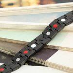 Flongo Bracelet Acier Inoxydable Magnétique Aimanté Manchette Cool Couleur Noir pour Homme de la marque Flongo image 2 produit