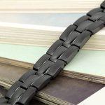 Flongo Bracelet Acier Inoxydable Magnétique Aimanté Manchette Cool Couleur Noir pour Homme de la marque Flongo image 3 produit