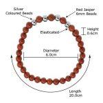 Jaspe Rouge-Semi-Precieuse/Bracelet de 6,5 cm de la marque image 1 produit