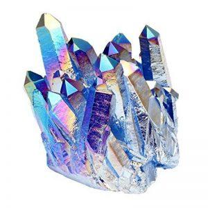 JOVIVI Pierre d'Energie Precieuse Irregulier Quartz Cluster Cristal Geode Druse Specimen Maison Decoration Bibelot + Coffret Cadeau de la marque Jovivi image 0 produit