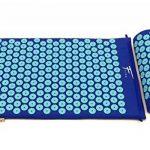 Kit d'acupression Fitem - Tapis d'Acupression + Coussin + Sac + Boule de Massage - Soulage douleurs Dos et Cou - Sciatique - Massage dos - Relaxation Musculaire - Acupuncture - Récupération post-sport (Bleu-Turquoise) de la marque Fitem image 1 produit