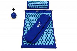 Kit d'acupression Fitem - Tapis d'Acupression + Coussin + Sac + Boule de Massage - Soulage douleurs Dos et Cou - Sciatique - Massage dos - Relaxation Musculaire - Acupuncture - Récupération post-sport (Bleu-Turquoise) de la marque Fitem image 0 produit