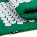 Kit d'acupression VITAL vert : Tapis d'acupression 74 x 44 cm vert + Coussin d'acupression 33 x 28 cm vert de la marque Bodhi image 1 produit