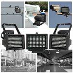 KKmoon 96 LEDS IR Illuminateur Lampes Infrarouges Tableau Vision Nocturne Extérieure étanche pour Caméra de Sécurité CCTV Noir de la marque KKmoon image 3 produit