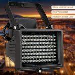 KKmoon 96 LEDS IR Illuminateur Lampes Infrarouges Tableau Vision Nocturne Extérieure étanche pour Caméra de Sécurité CCTV Noir de la marque KKmoon image 6 produit