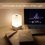 Lumière de Réveil, Eveil Lumière, simulation du lever soleil, 256 multicolore RGB LED, 5 nature sonneries de réveil, contrôle tactile, réveil lumineux, lampe de chevet, USB lampe d'ambiance -InnoBeta WakieWell de la marque InnoBeta image 2 produit