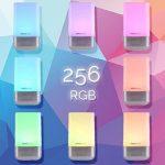 Lumière de Réveil, Eveil Lumière, simulation du lever soleil, 256 multicolore RGB LED, 5 nature sonneries de réveil, contrôle tactile, réveil lumineux, lampe de chevet, USB lampe d'ambiance -InnoBeta WakieWell de la marque InnoBeta image 3 produit