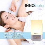 Lumière de Réveil, Eveil Lumière, simulation du lever soleil, 256 multicolore RGB LED, 5 nature sonneries de réveil, contrôle tactile, réveil lumineux, lampe de chevet, USB lampe d'ambiance -InnoBeta WakieWell de la marque InnoBeta image 4 produit