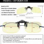Lunettes pour jeux vidéo Duco - Lunettes pour ordinateur - à porter par dessus des lunettes de vue - excellente protection contre la lumière bleue des écrans PC & TV 8012 de la marque Duco image 2 produit
