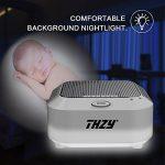 Machine à bruit blanc,THZY Machine Portable de Son de sommeil avec 5 options de bruit et mode de Veilleuse, 3 minuteries et rechargeable assurant le fonctionement toute la nuit pour bébé, enfants de la marque THZY image 6 produit