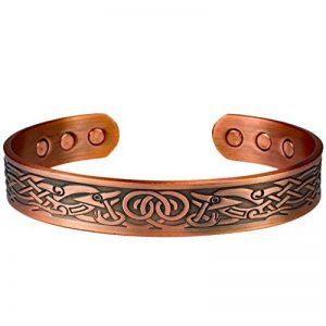 MPS® Bracelet jonc, Bracelet magnétique en cuivre, Avec six aimants--#N-BAC-68-C-MJUK de la marque MPS image 0 produit