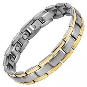 Nouveauté Bracelet Aimanté homme en titane, Boîtier velours et Ustensile ajusteur inclus de la marque Willis Judd image 0 produit