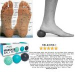 RELAX Set unique de 3 balles de massage différentes - Réflexologie Acupression - Elimine les tensions et le stress Idéal pour masser les pieds, dos, épaules, bras...Idée cadeau zen original de la marque Myami image 6 produit