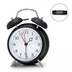 réveil à double cloche de 4 pouce, très fort rétro alarme sonore, alimenté par la batterie, lumière de nuit disponible de la marque Aeterna image 0 produit