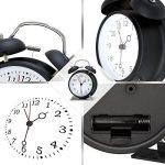 réveil à double cloche de 4 pouce, très fort rétro alarme sonore, alimenté par la batterie, lumière de nuit disponible de la marque Aeterna image 2 produit