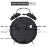 réveil à double cloche de 4 pouce, très fort rétro alarme sonore, alimenté par la batterie, lumière de nuit disponible de la marque Aeterna image 4 produit