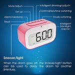 Réveil Alarm Clock,GEREE mignon smiley rétroéclairage / température / tour horloge intelligent réveiller réveils pour chambres à coucher, cube réveil des piles meilleur cadeau pour les enfants de la marque GEREE image 6 produit