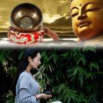 Rovtop Bol Chantant Tibétain - Fabriqué au Népal - Manche en Bois - Petit Coussin - Conception Délicate Pour Méditation Guérison Prière Yaga Peut Produire la Vibration et la Résonance de la marque Rovtop image 4 produit