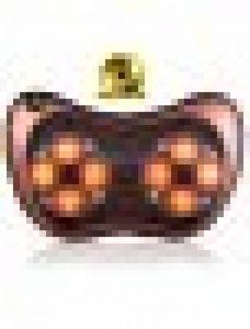 Shiatsu Coussin de massage pour nuque/dos/taille/épaule profond avec avec fonction wärm et de la lumière, 3D Massager de rotation avec chiffon lavable pour maison bureau la voiture garantie 2ans 8 Nodes de la marque VOROSY image 0 produit