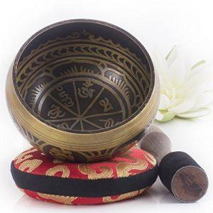 Silent Mind ~ Bol Chantant Tibétain Antiques ~ Génial pour méditation, la relaxation, le stress et le soulagement de l'anxiété, guérison des chakra, yoga, zen ~ Cadeau spirituel parfait de la marque Silent Mind image 0 produit