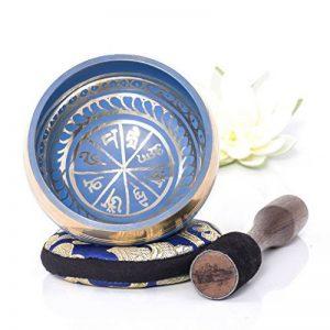 Silent Mind ~ Bol Chantant Tibétain ~ Design harmonie et équilibre ~ Génial pour la méditation, la relaxation, le stress et le soulagement de l'anxiété, la guérison des chakras ~ Cadeau parfait de la marque Silent Mind image 0 produit