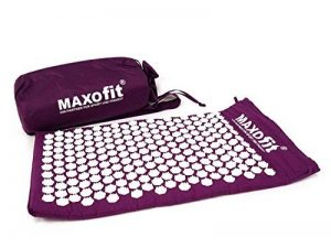 Tapis d'acupression MAXOfit® avec sac pour le transport , couleur bordeaux, taille M :75 x 44 x 2,5 cm (65224) de la marque MAXOfit image 0 produit