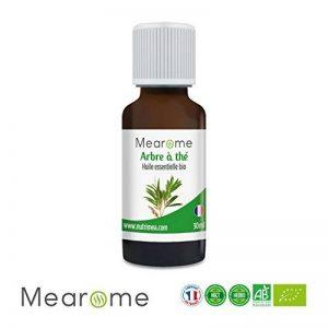 TEA TREE (Arbre à thé) – Huile Essentielle Bio 30 ml – Huile Essentielle chémotypée HEBBD Bio 100% Pure et Naturelle de FABRICATION FRANCAISE de la marque Mearome image 0 produit