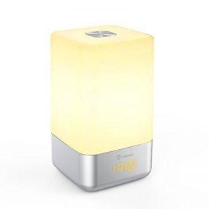 Warkit L1 Réveille-matin lumière Rechargeable Portable Réveil à LED Avec 5 Sons Naturels Sunrise Simulation Multi Modes de Lumière Touch Control Night Light de la marque Warkit image 0 produit