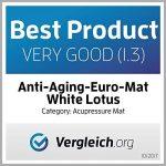 White Lotus Kit d'acupression - tapis et oreiller - la 1re place des meilleurs sur Vergleich.org 2017- Les seuls oreillers et tapis fabriqués en Europe avec mousse à mémoire de forme, hypoallergénique de la marque White Lotus Anti Aging image 1 produit